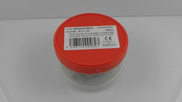 """VRUTY DO DŘEVA  DIN 7997 + UniQuadrex  Certifikace dle EN 14592+A1  hobby balení """"ešus"""""""