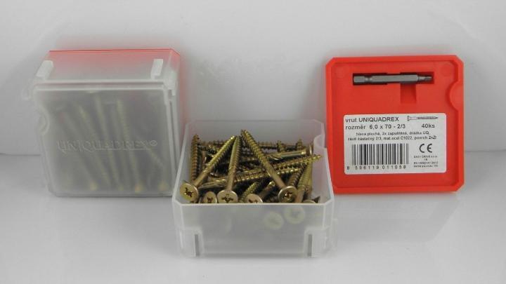 VRUTY DO DŘEVA  DIN 7997 + UniQuadrex  Certifikace dle EN 14592+A1  hobby balení Q - box