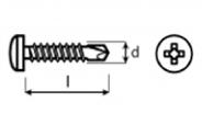 TEKS  DIN 7504 N  - LB pro rámy sádrokartonových konstrukcí